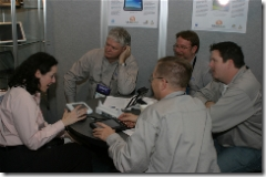 GBM Guys meeting with Gail Levy of TabletKiosk, going over their latest Tablet PC and UMPCs