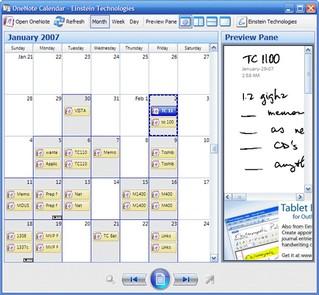 OneNote Calendar - Medical Quack