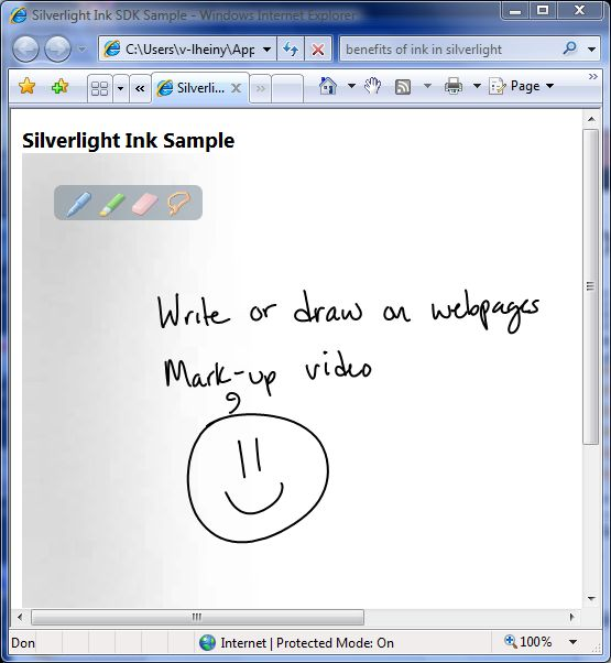RTM Of Microsoft Silverlight Ink SDK Sample Now Available