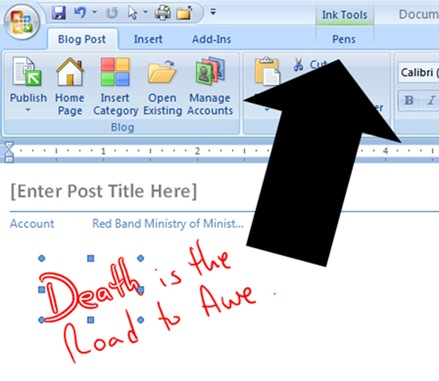 Ink Blogging from Word
