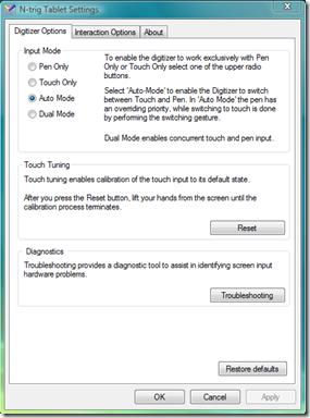 N-Trig Tablet Setting Latitude Xt