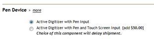 Toshiba M700 Touch Pen