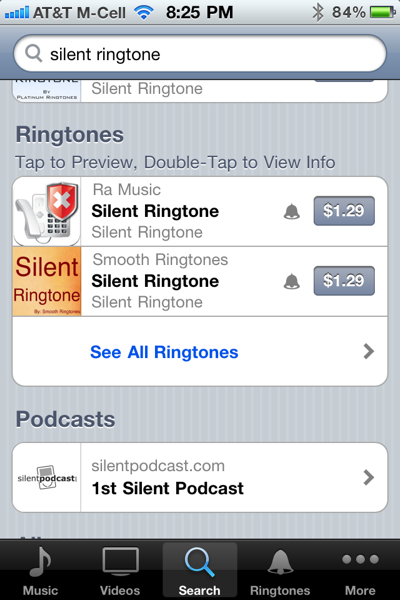 Silent Ringtons