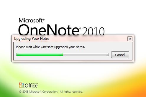 onenote2010update