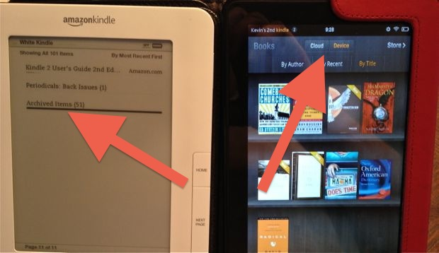 Older Kindles Archive is Now Cloud on Kindle Fire