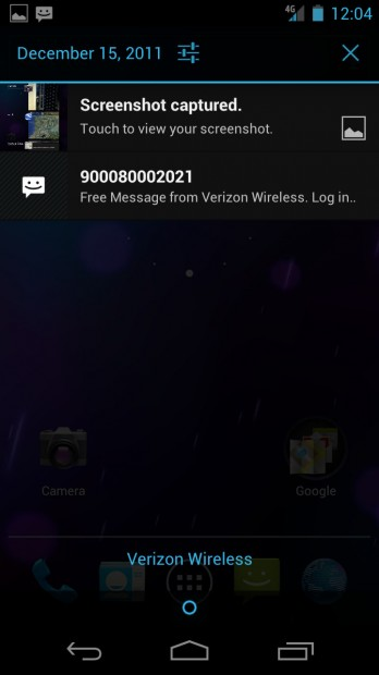 Notifications - Ice Cream Sandwich Android 4.0