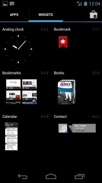 Widgets - Ice Cream Sandwich Android 4.0