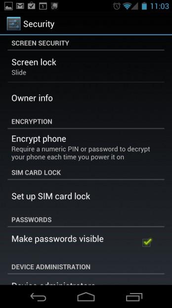 Set owner info on Galaxy Nexus