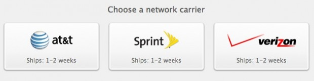 iPhone 4S carrier choices