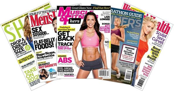 Fitness magazines for the Nook