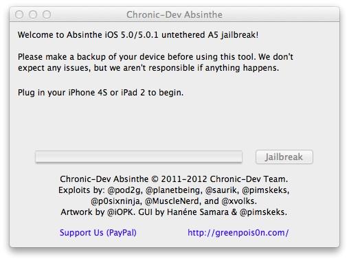 Absinthe iPhone 4S Jailbreak
