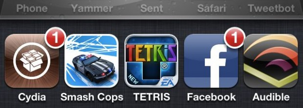 Five icon switcher iPhone 4S