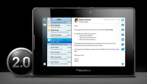 BlackBerry PlayBook OS 2.0 Update Avaialble