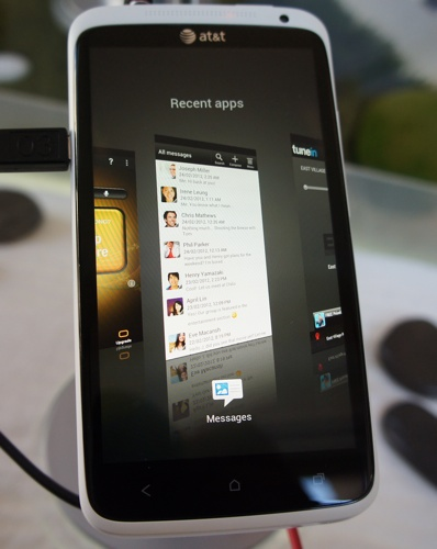 HTC One X - HTC Sense 4.0 Recent Apps