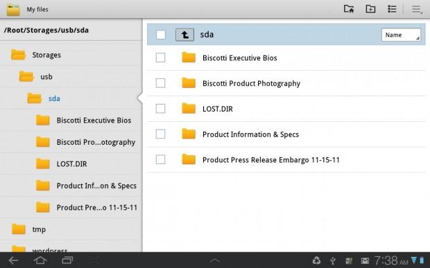 My Files App Galaxy Tab