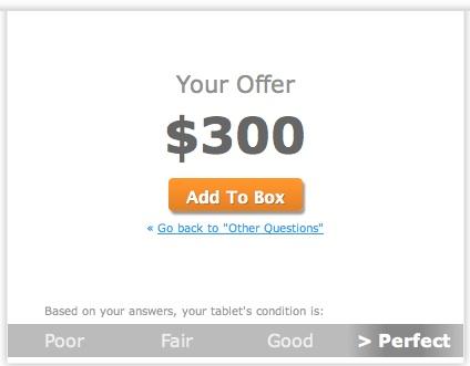 Gazelle iPad price