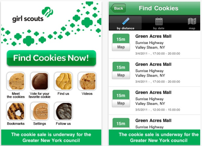 find the closest girl scout cookies with cookie finder for
