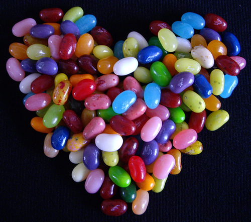 Jelly bean Heart