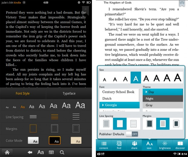 eReading Experience - Kindle Fire vs Nook Tablet