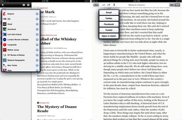Longform for iPad