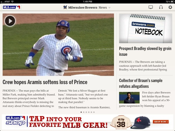 MLB At Bat 12 iPad App