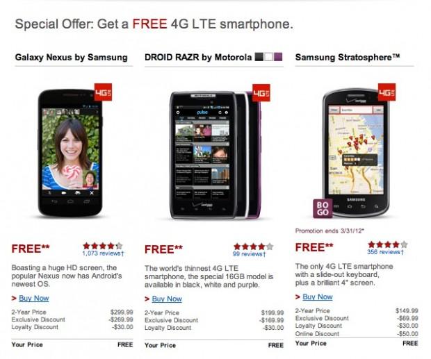 "Verizon Offering Galaxy Nexus for Free to ""Loyal"" Customers"