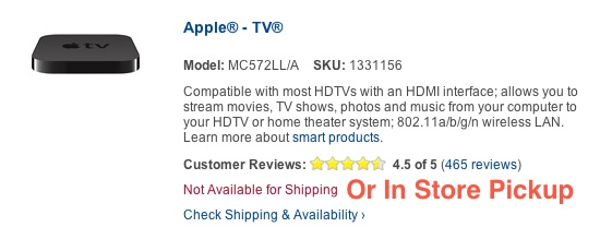 Apple TV not available