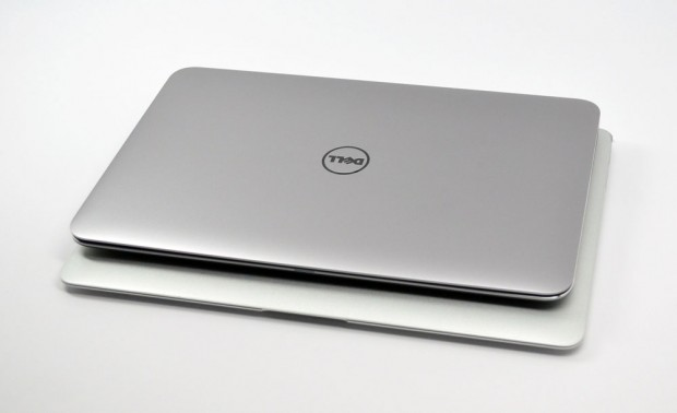 Dell XPS 13 Ultrabook vs. MacBook Air Size