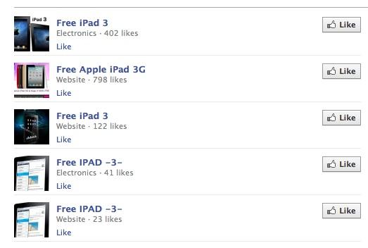 Free iPad 3 facebook