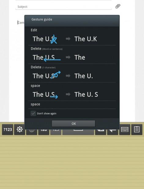 Samsung Galaxy Tab 7.7 Handwriting Keyboard