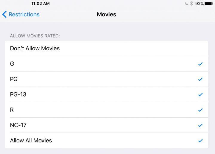 Set iPad Parental Controls - 9
