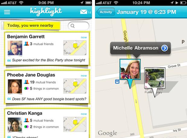 highlight app screenshot
