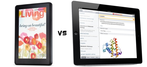 Apple Ipad Vs Kindle: Kindle Fire Vs. IPad 3rd Gen