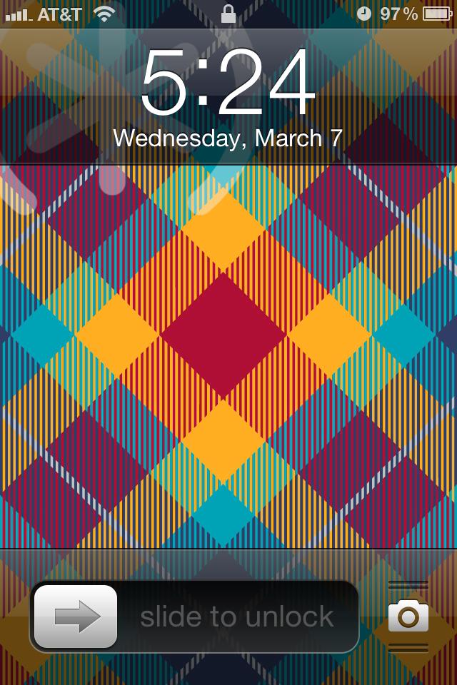 iOS 5.1 lock screen
