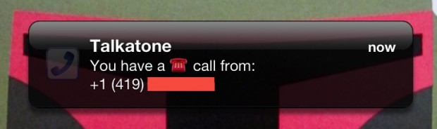 talkatone notification