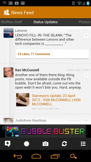 Friendcaster Facebook Android app