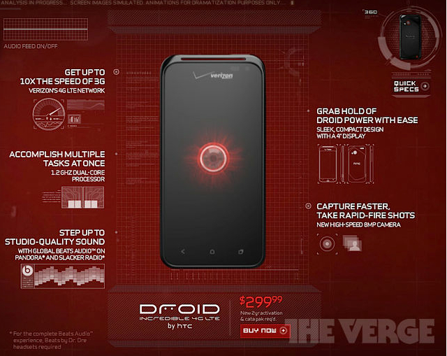 Verizon Accidentally Teases HTC Droid Incredible 4G LTE For A Few Minutes