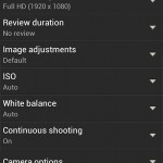 HTC One S Camera App - Available Settings and Features