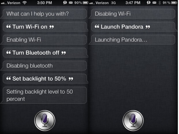 Launch apps and control settings with Siri