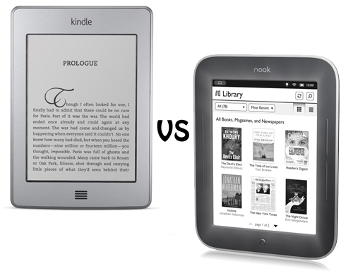 Nook E Reader Vs Kindle: Kindle Touch Vs Nook Simple Touch With GlowLight