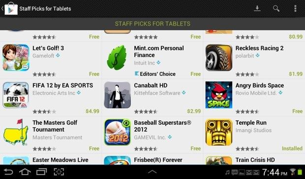 Galaxy Tab 2 Apps