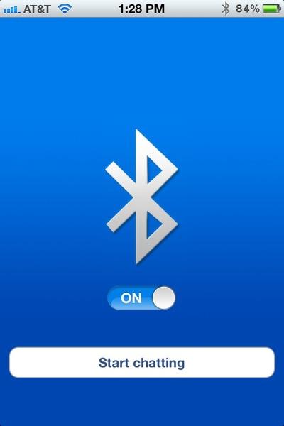 Bluetooth OnOff Home Screen