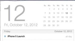 iPhone 5 release date October