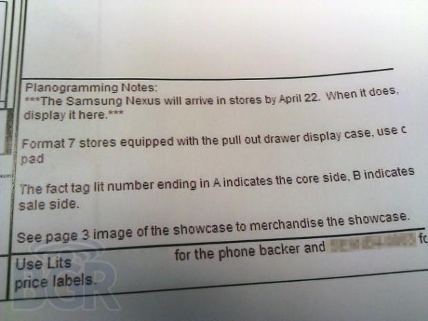 Sprint Galaxy Nexus Release Date All but Confirmed