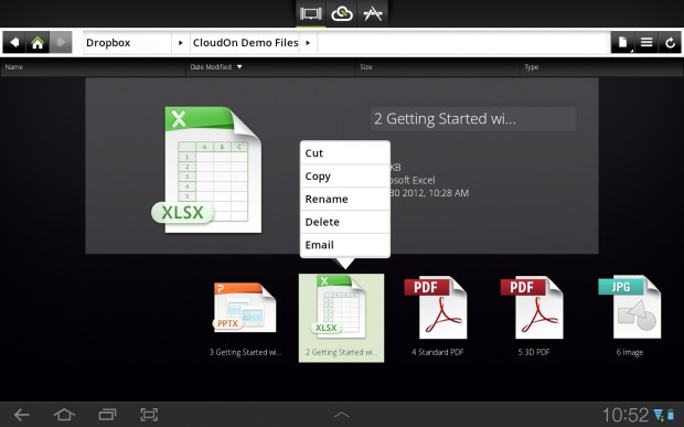 CloudOn Excel for Android