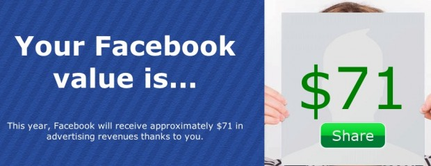 My Value to Facebook