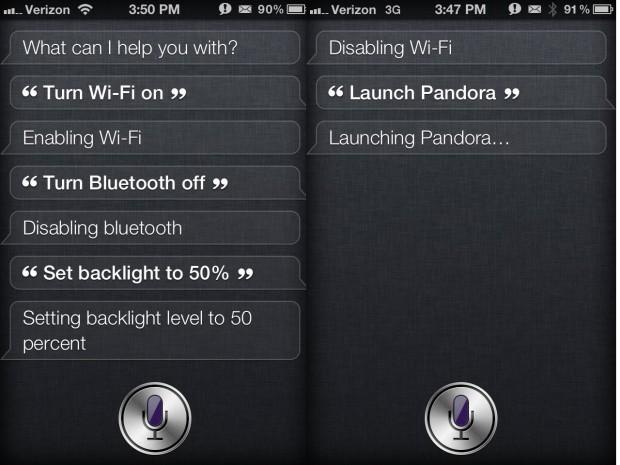 Siri iOS 6 launch apps