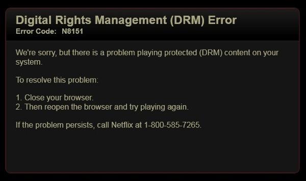 Drm error