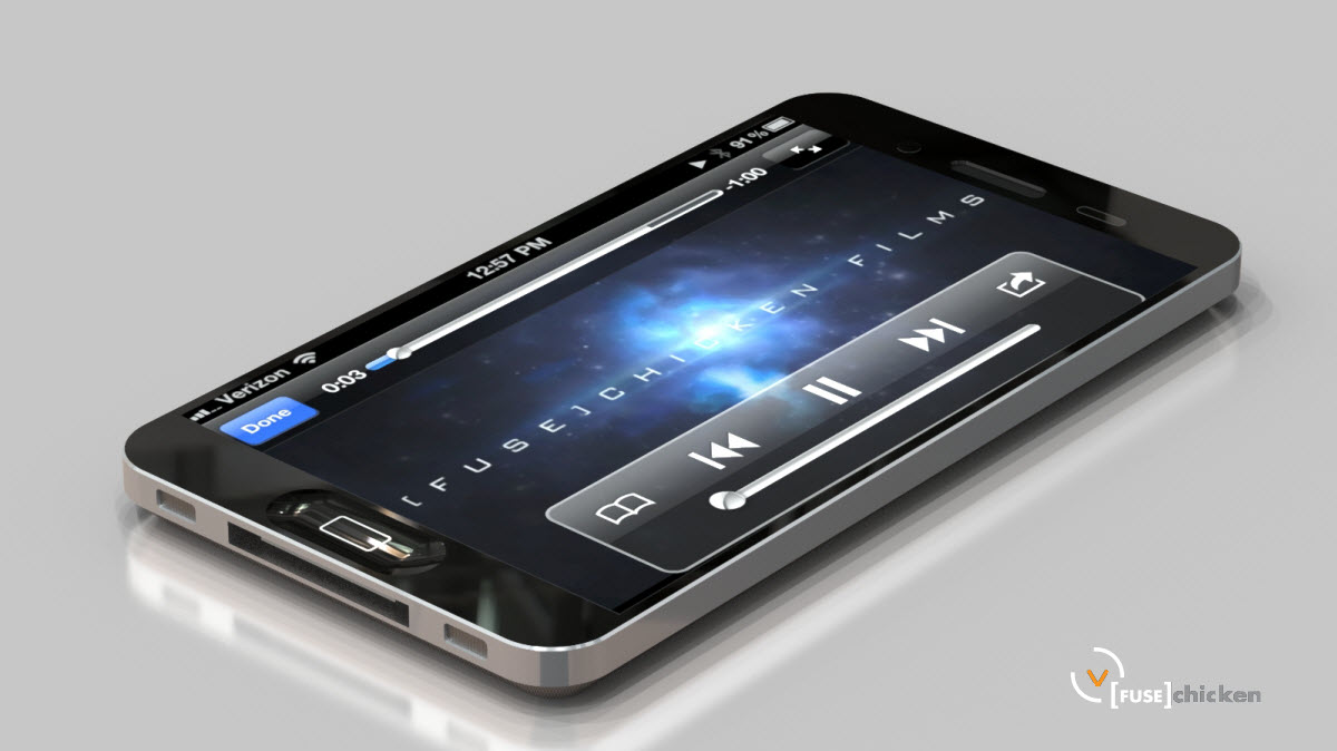 iphone 5 Mock UP Verizon 4 inch