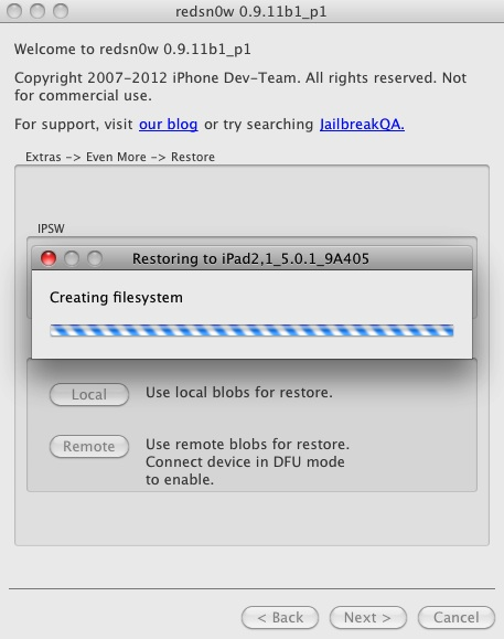 redSn0w iPhone 4s jailbreak downgrade